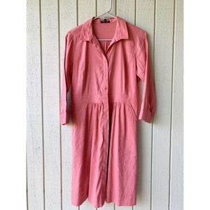 Eileen Fisher summer Linen Dress in coral pink